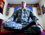 soldier meditating, taken from www.plausiblefutures.com