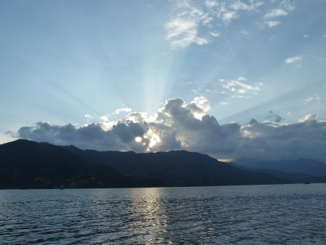 Sunset in Pokhara,Nepal