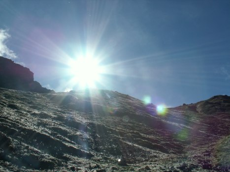 sun over mountain (Tibet)